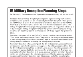 Military Deception Planning Steps