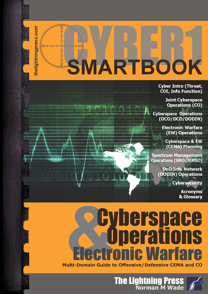 CYBER1: The Cyberspace Operations & Electronic Warfare SMARTbook