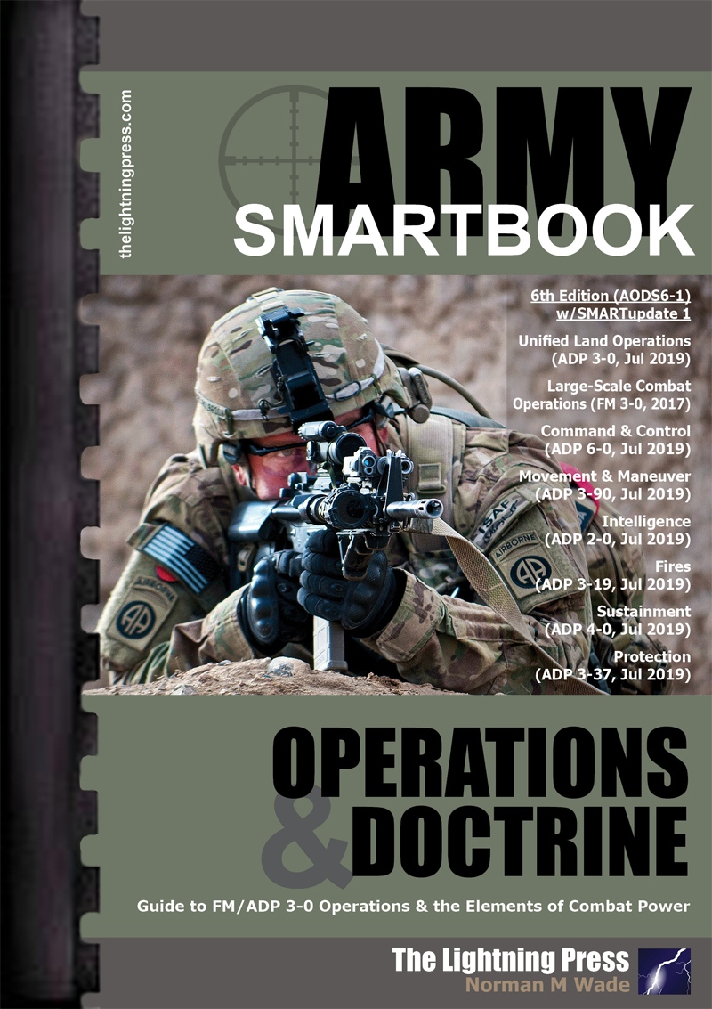 AODS6-1: The Army Operations & Doctrine SMARTbook, 6th Ed. (w/SMARTupdate 1)